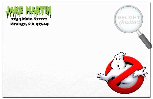 Ghostbusters Party Invitations Ghostbusters Favor Tags [di 314ft] Ministry Greetings