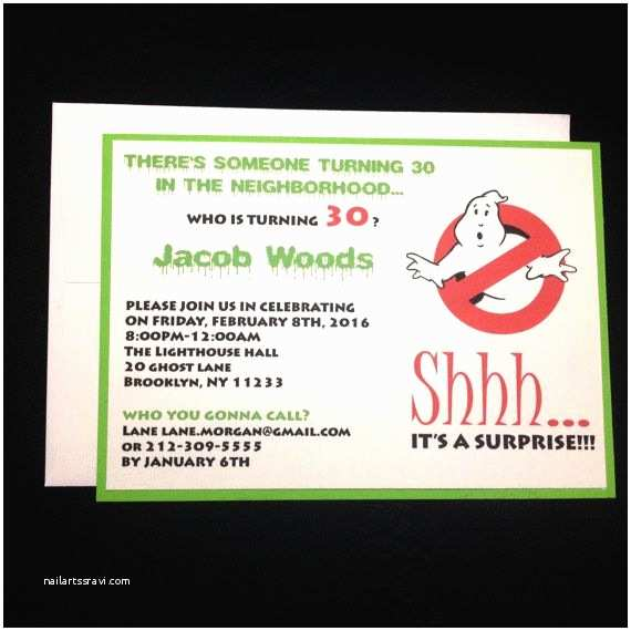 Ghostbusters Party Invitations Ghostbusters Ghostbusters Invitation Invitation theme