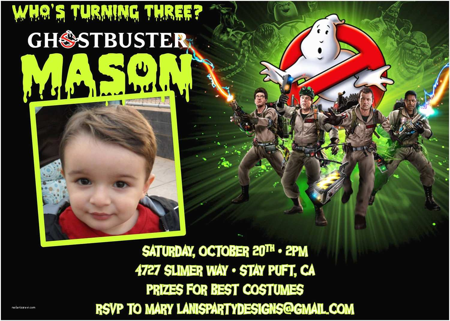 ghostbusters invitation birthday