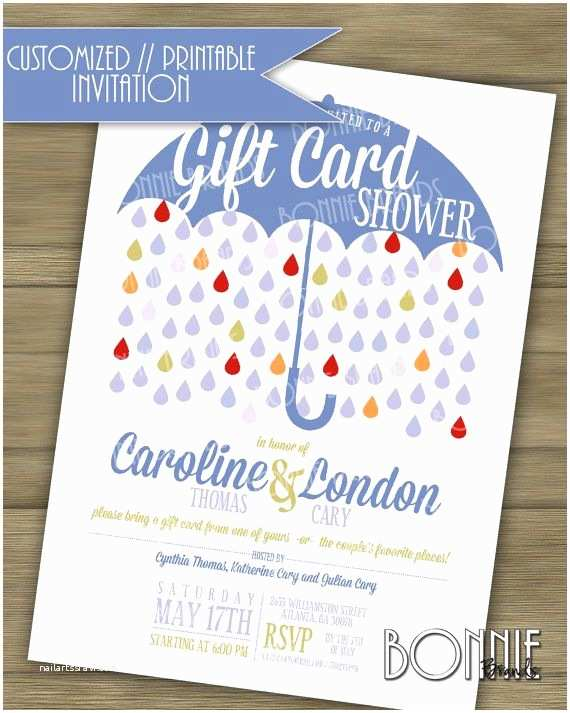 Gift Ideas Made From Wedding Invitations Customized Printable Couple S Wedding Shower