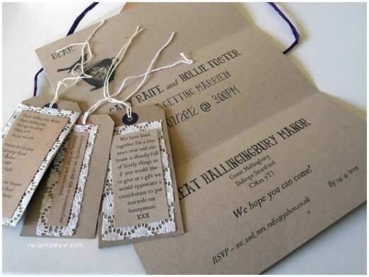 Gift Ideas Made From Wedding Invitations Handmade Rustic Wedding Invitation Ideas