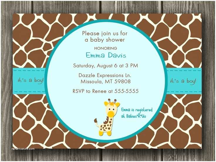 Giraffe Baby Shower Invitations 17 Best Images About Giraffe Baby Shower Ideas On