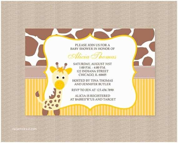 Giraffe Baby Shower Invitations 51 Best Images About Giraffe theme Baby Shower On