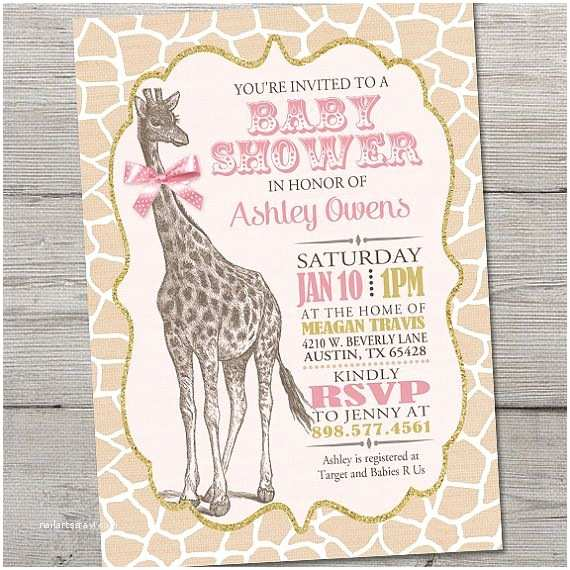 Giraffe Baby Shower Invitations Best 25 Baby Shower Giraffe Ideas On Pinterest