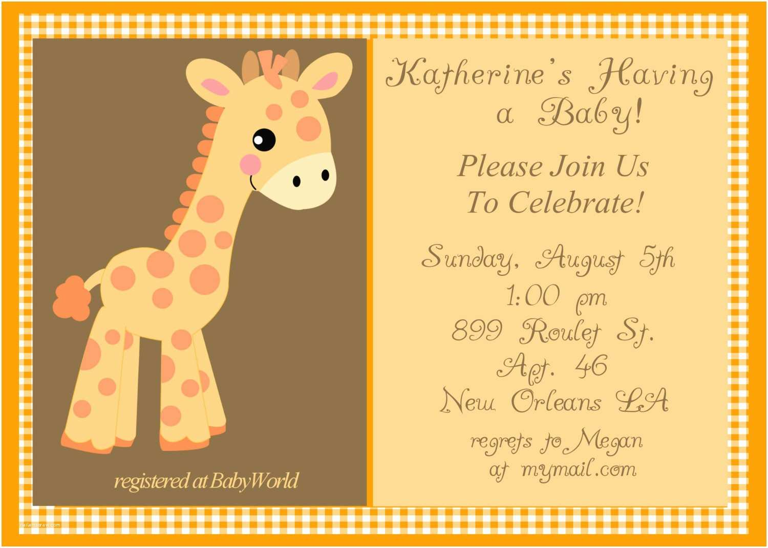 Giraffe Baby Shower Invitations Design Giraffe Baby Shower Invitations Girl Giraffe Baby