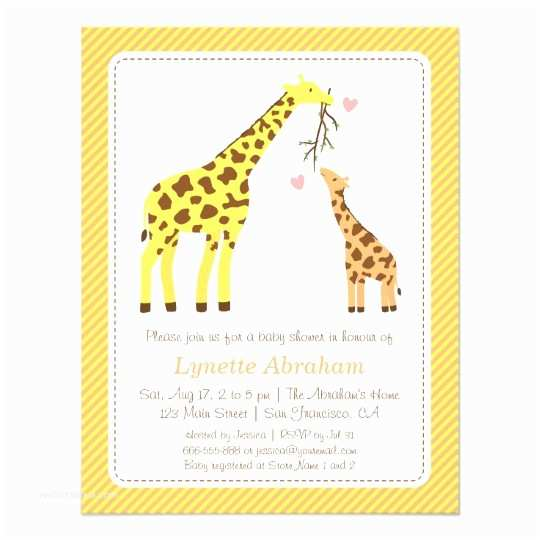 Giraffe Baby Shower Invitations Elephant theme Baby Shower Invitations & Announcements