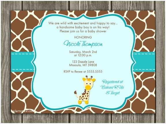 Giraffe Baby Shower Invitations Free Printable Chevron Baby Shower Invitations Oxyline