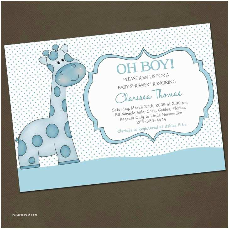 Giraffe Baby Shower Invitations Funny Giraffe Baby Shower Invitation Wording Template