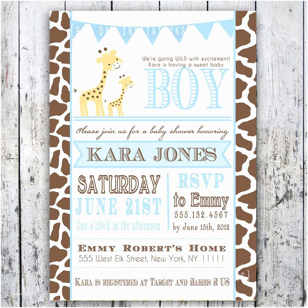 Giraffe Baby Shower Invitations Giraffe Baby Shower Invitation Baby Sprinkle Diy Printable