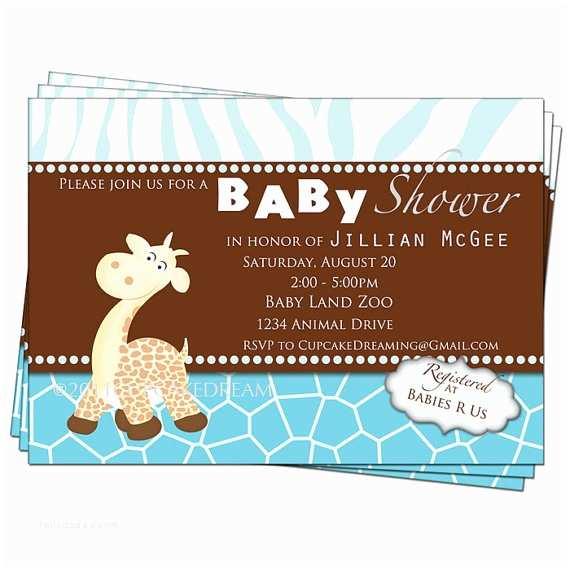 Giraffe Baby Shower Invitations Giraffe Baby Shower Invitation Boy Baby Shower