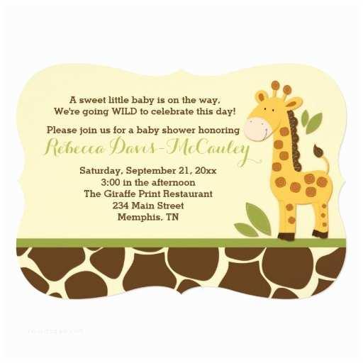 Giraffe Baby Shower Invitations Giraffe Baby Shower Invitation Gender Neutral