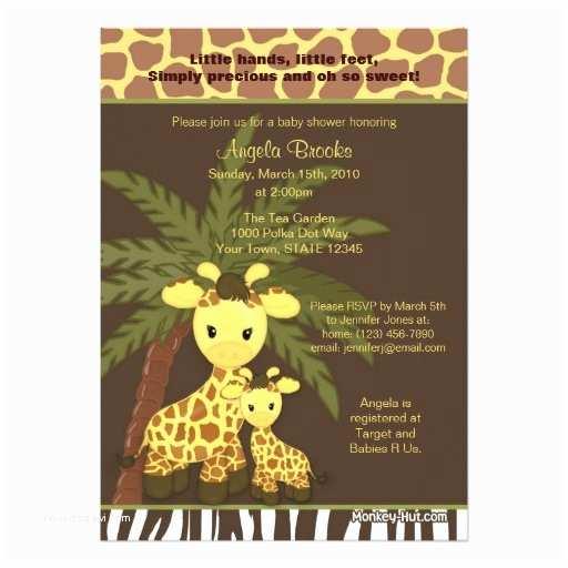 Giraffe Baby Shower Invitations Giraffe Baby Shower Invitation Safari Jungle Mommy
