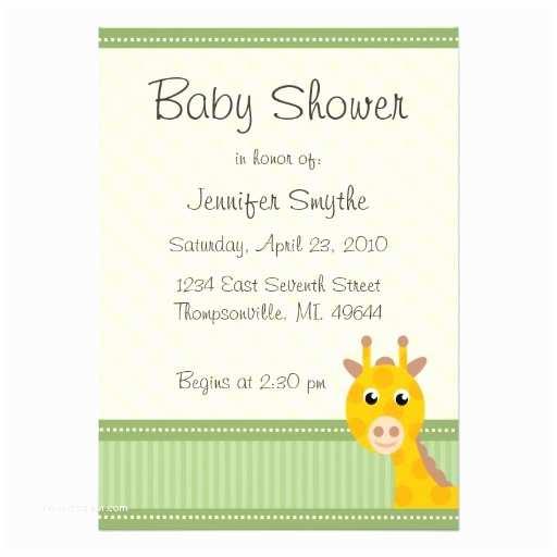"""Giraffe Baby Shower Invitations Giraffe Baby Shower Invitations 5"""" X 7"""" Invitation Card"""