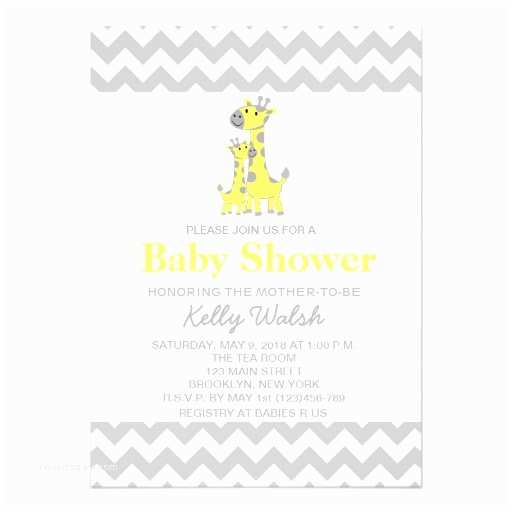 Giraffe Baby Shower Invitations Giraffe Baby Shower Invitations Chevron