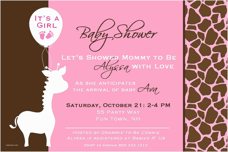 Giraffe Baby Shower Invitations Giraffe Baby Shower Invitations – Gangcraft