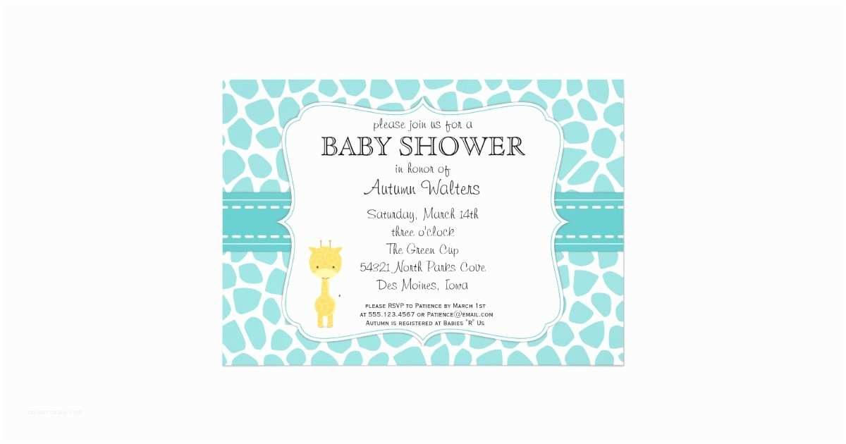 Giraffe Baby Shower Invitations Giraffe Baby Shower Invitations