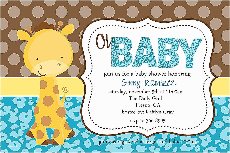 Giraffe Baby Shower Invitations Giraffe Baby Shower Invitations theme Create Your Own