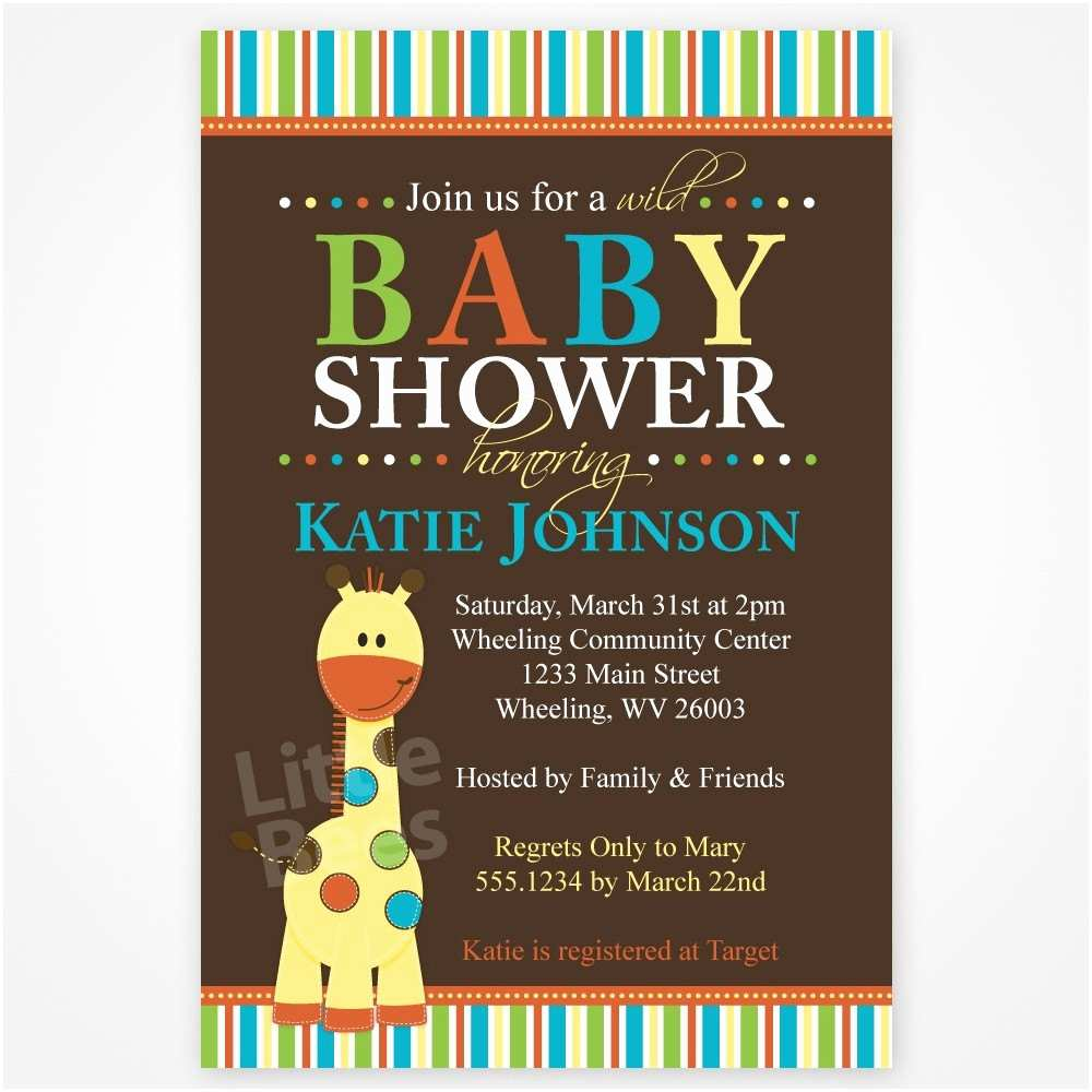Giraffe Baby Shower Invitations Giraffe Invitation Giraffe Baby Shower by Littlebeesgraphics