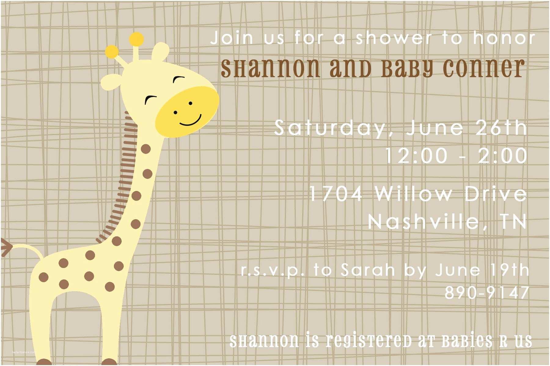 Giraffe Baby Shower Invitations Stunning Giraffe Baby Shower Margusriga Baby Party