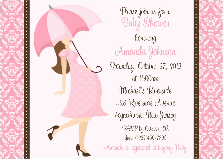 Girl Baby Shower Invitation Baby Shower Invitation Wording Fashion & Lifestyle