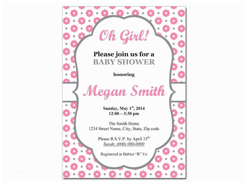 Girl Baby Shower Invitation Girl Baby Shower Invitations Templates