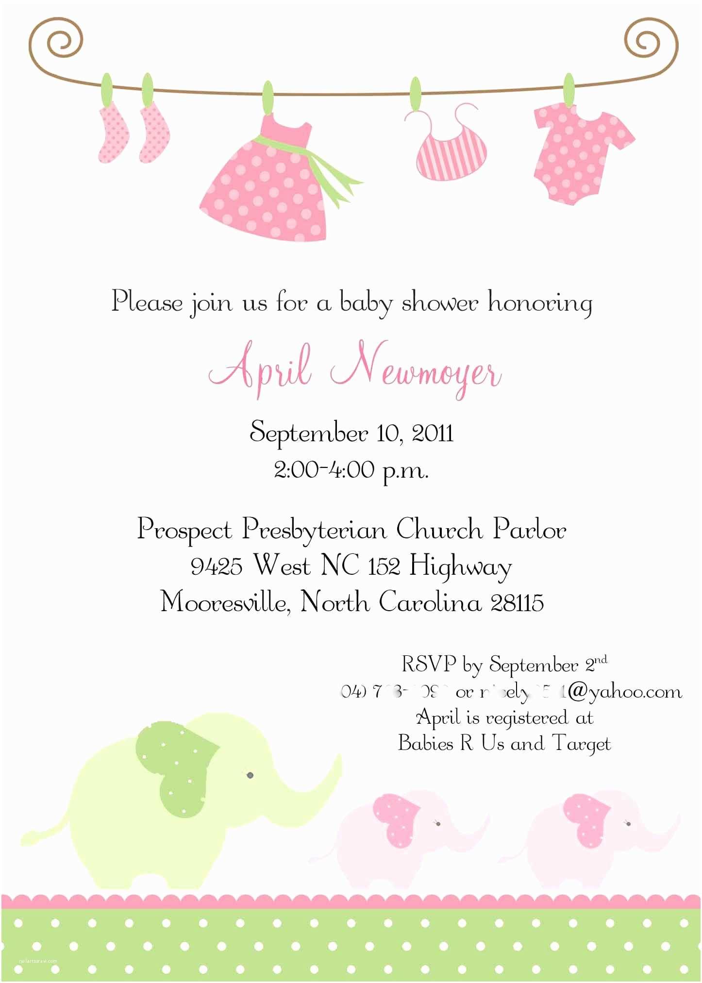 Girl Baby Shower Invitation Ideas Of Baby Shower Invitations for Girls
