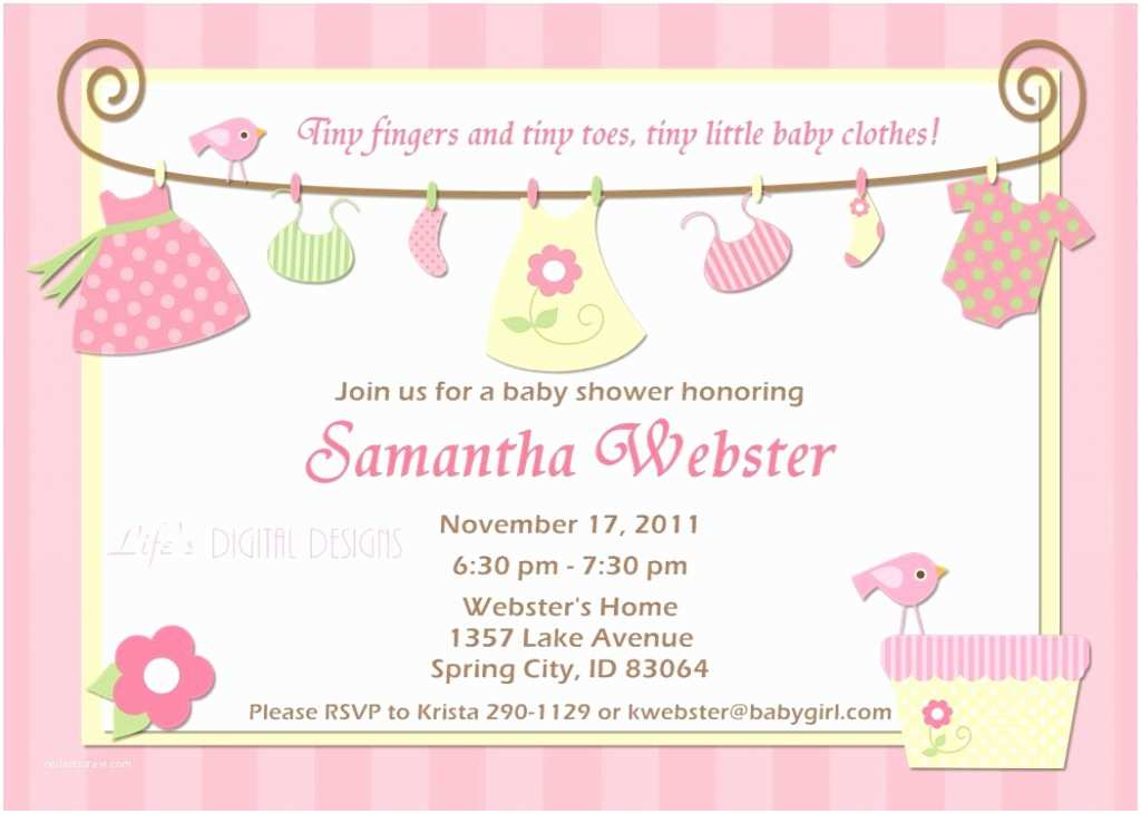 Girl Baby Shower Invitation top 10 Baby Shower Invitations original for Boys and Girls