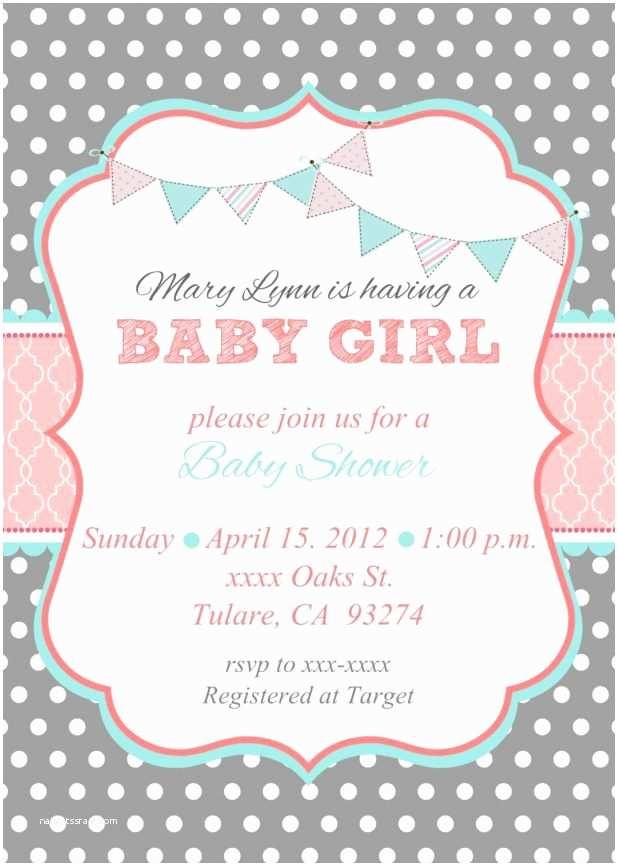 Girl Baby Shower Invitation Wording Baby Girl Shower Invitation Wording – Gangcraft