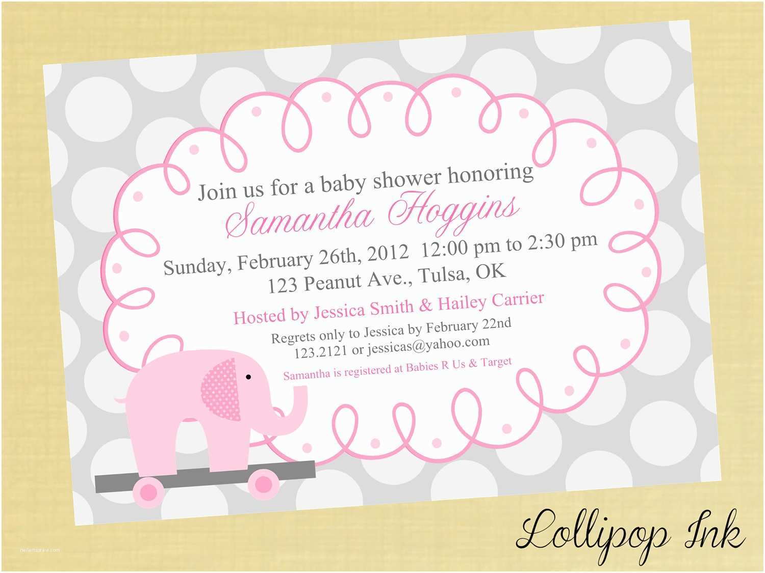 baby shower girl invitation wording