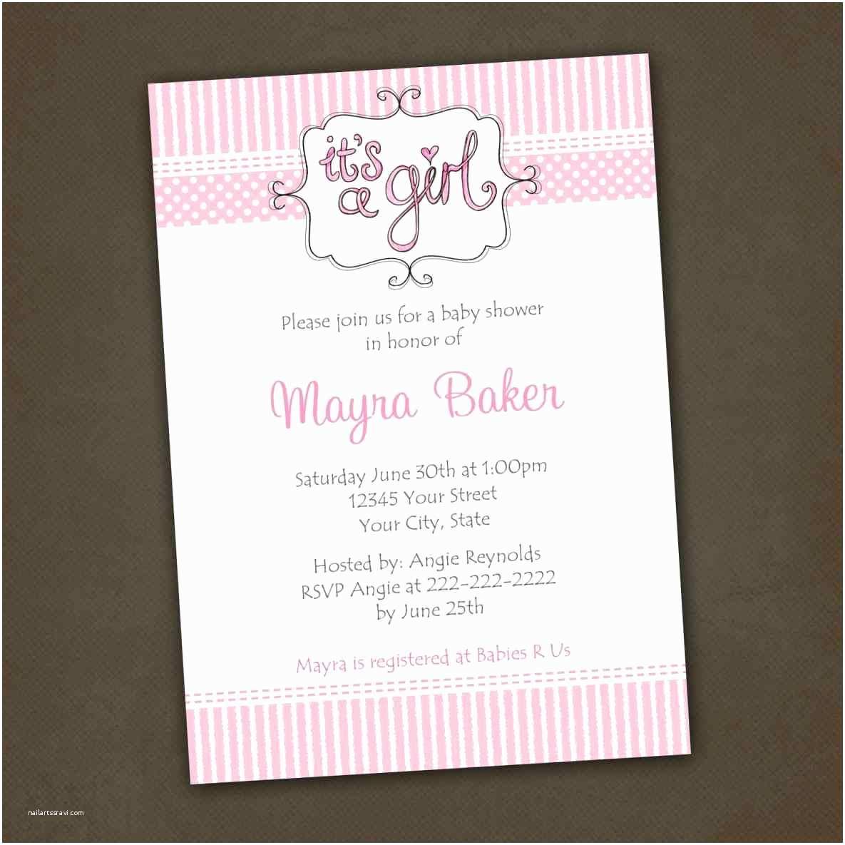 Girl Baby Shower Invitation Wording Baby Shower Invitations for Girls Wording Ebb Li with
