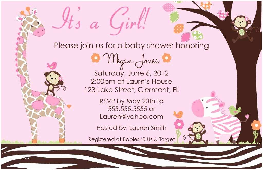 Girl Baby Shower Invitation Wording Girl Baby Shower Invitations Templates