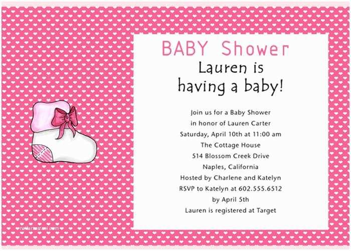 Girl Baby Shower Invitation Wording June 2012
