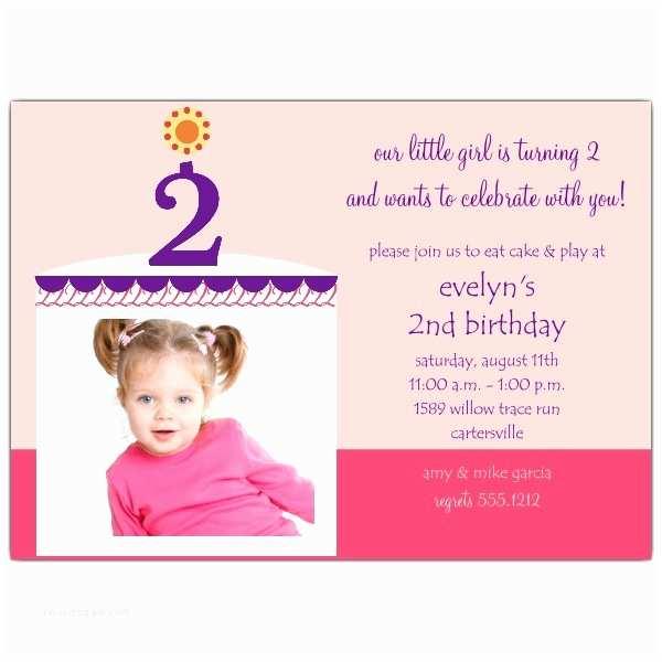 Girl Birthday Invitations 2nd Birthday Invitations Ideas for Kids – Bagvania Free