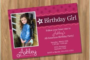 Girl Birthday Invitations Amazing American Girl Birthday Party