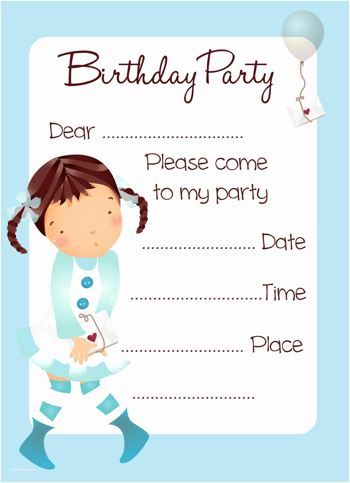 Girl Birthday Party Invitations Birthday Invitations for Girls