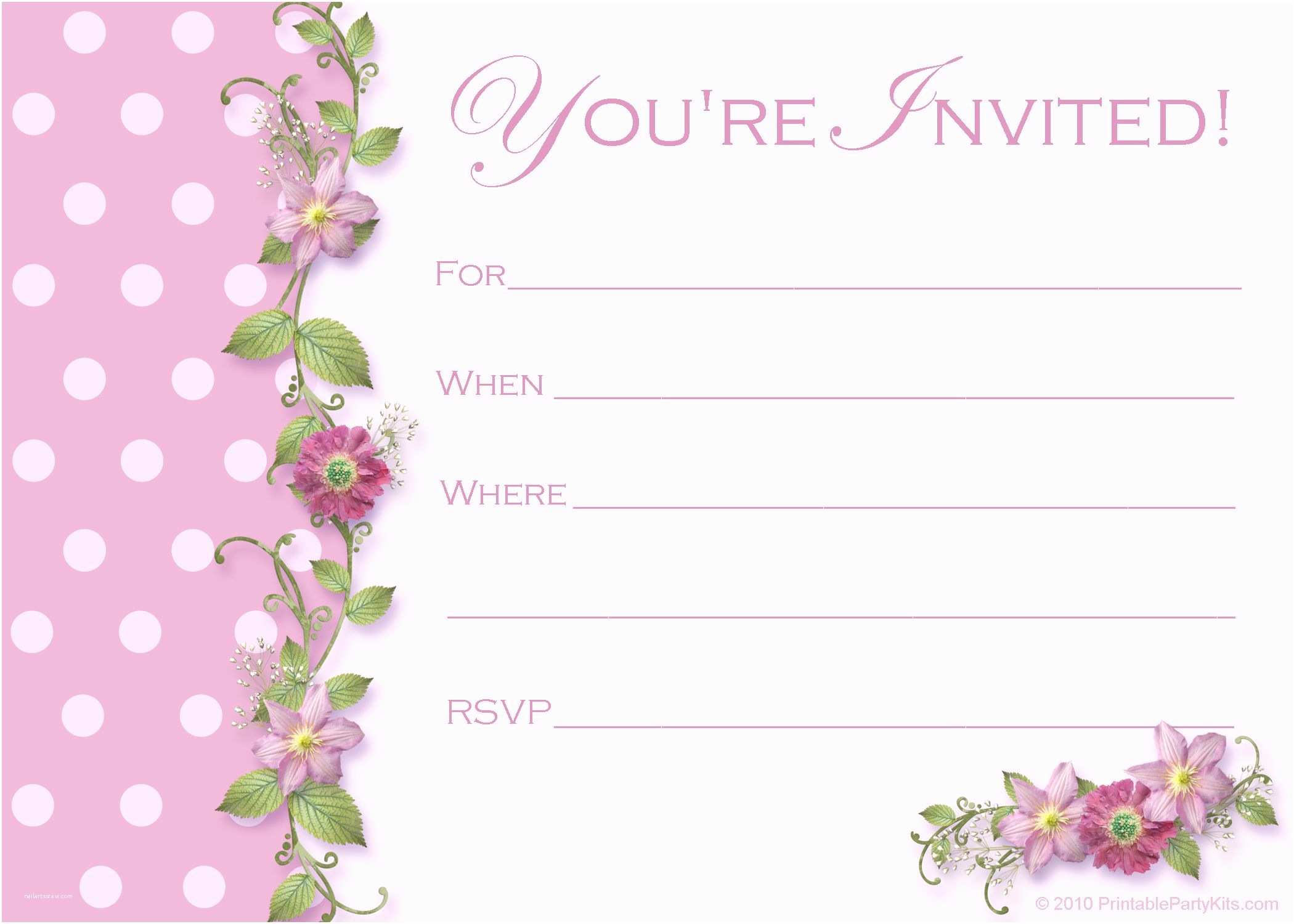 Girl Birthday Party Invitations Birthday Invites for A Girl Invitations