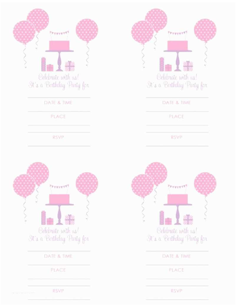 Girl Birthday Party Invitations Girls Birthday Invitation Free Printable – orderecigsjuice