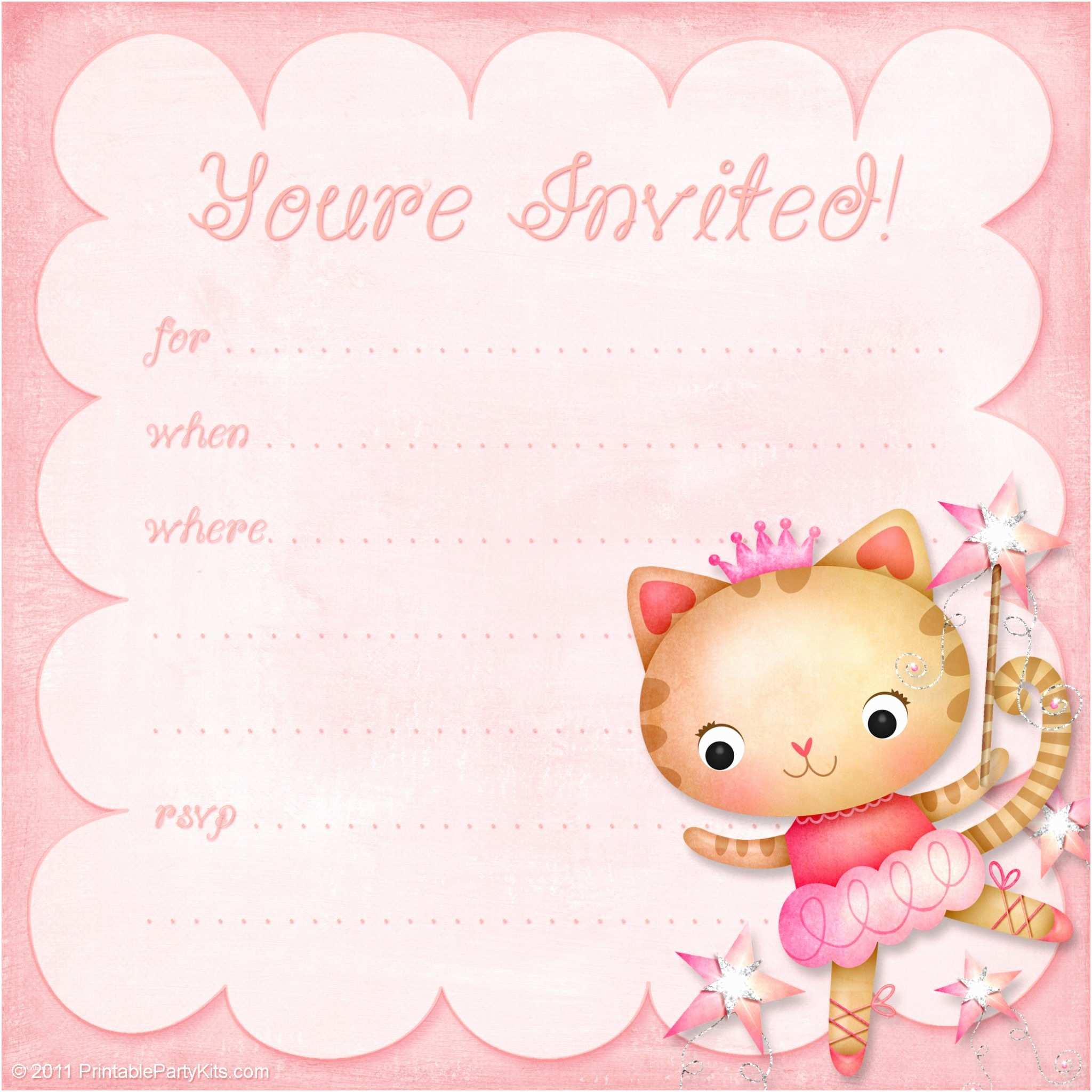 Girl Birthday Party Invitations Girls Birthday Party Invitation Princess Ballerina