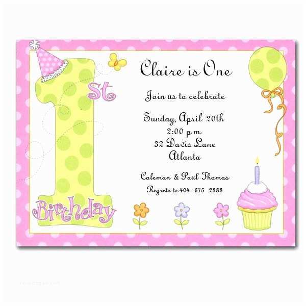 Girl Birthday Party Invitations Party Girl 1st Birthday Invitations Clearance