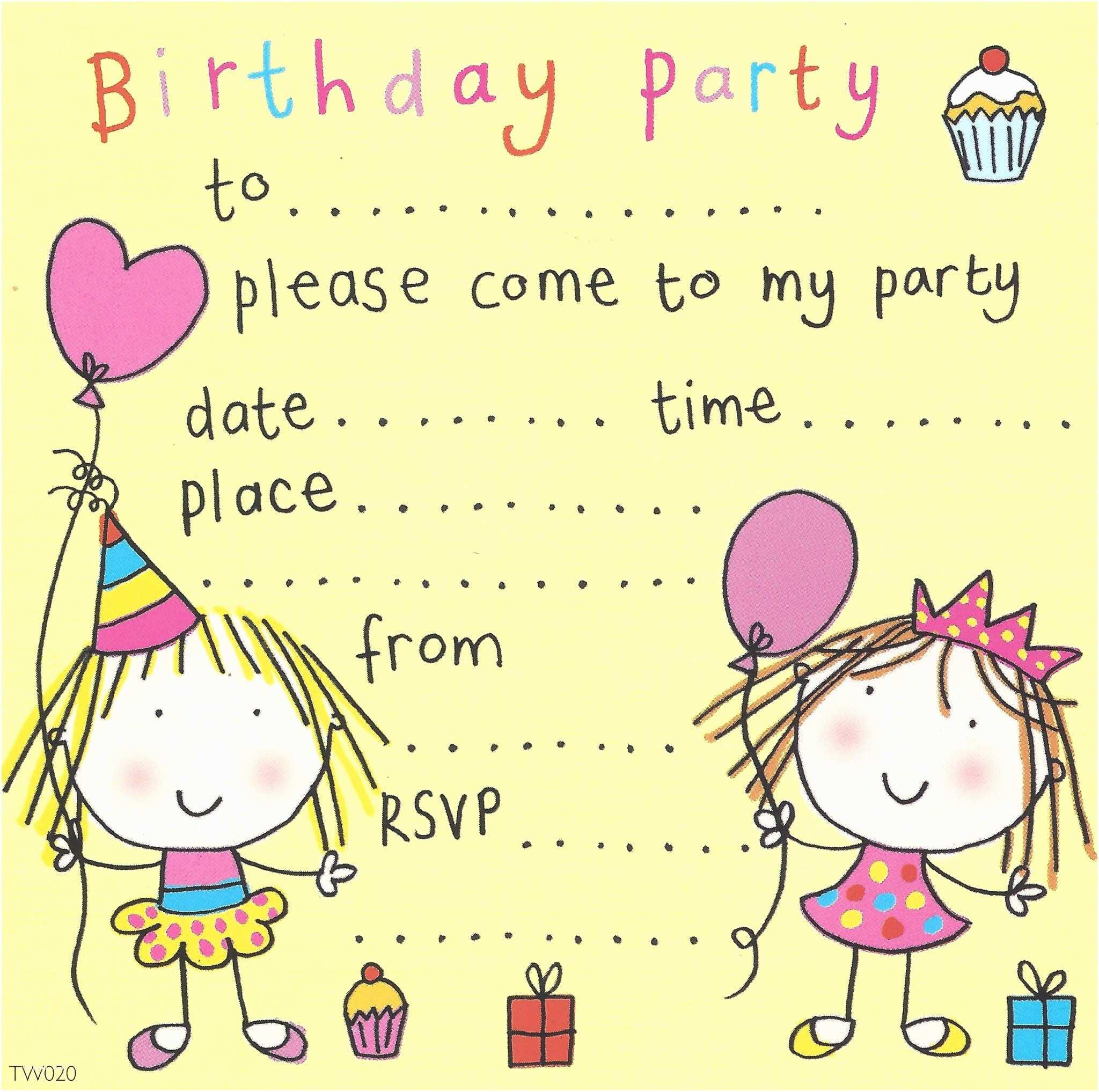 Girls Birthday Invitations Party Invitations Birthday Party Invitations Kids Party