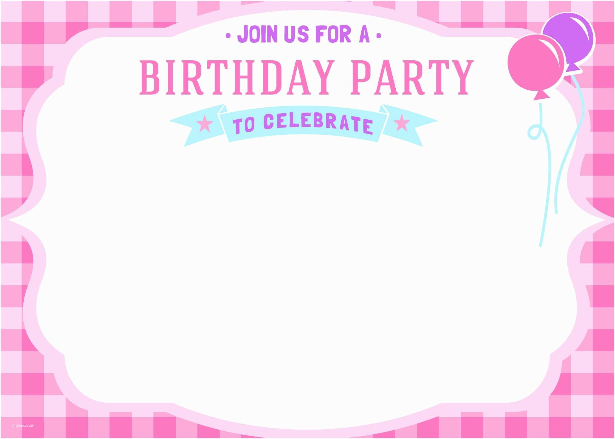 Girls Birthday Party Invitations Free Printable Girls Birthday Invitations – Bagvania Free