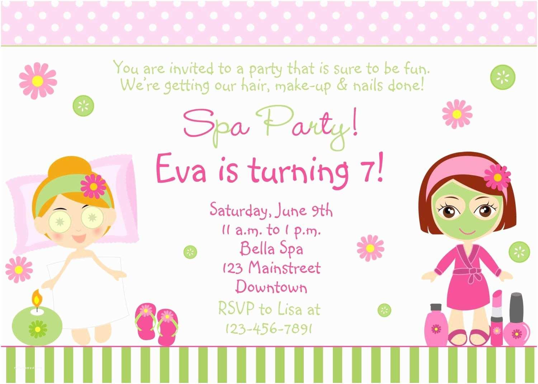Girls Birthday Party Invitations Free Spa Party Invitations Printables Girls – Invitetown