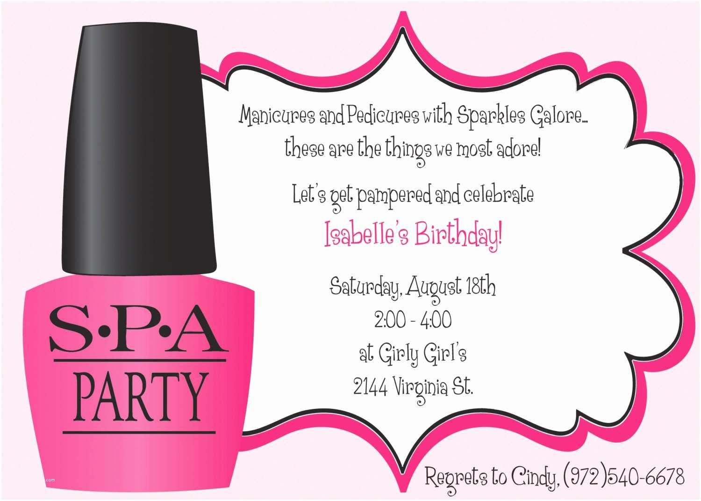 Girls Birthday Party Invitations Ooh La La Spa Party Girls Birthday Invitation Includes