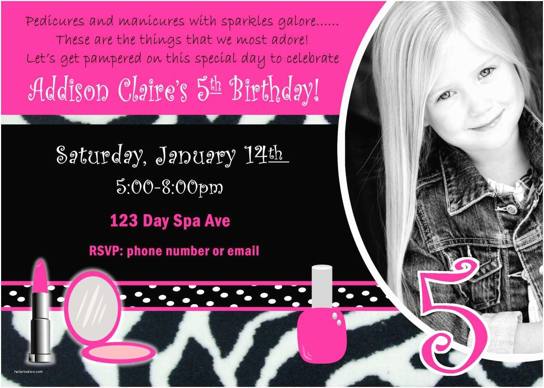 Girls Birthday Party Invitations Spa Birthday Party Invite Girl Birthday Party Invitation