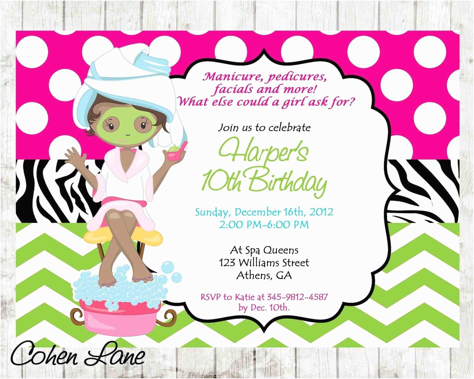 Girls Party Invitations Cimvitation Girl Girls Spa Party Invitations Cimvitation