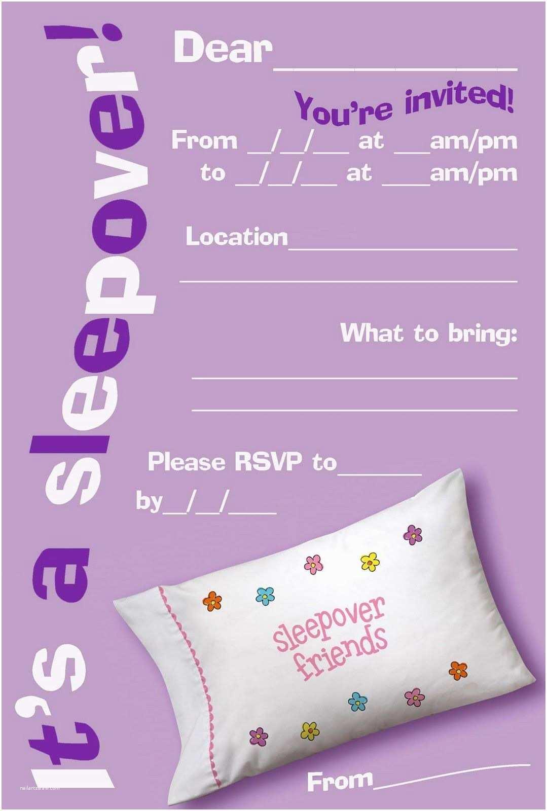 Girls Party Invitations Free Printable Girls Slumber Party Invitations Google