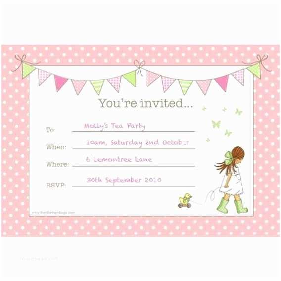 Girls Party Invitations Girls Party Invitations