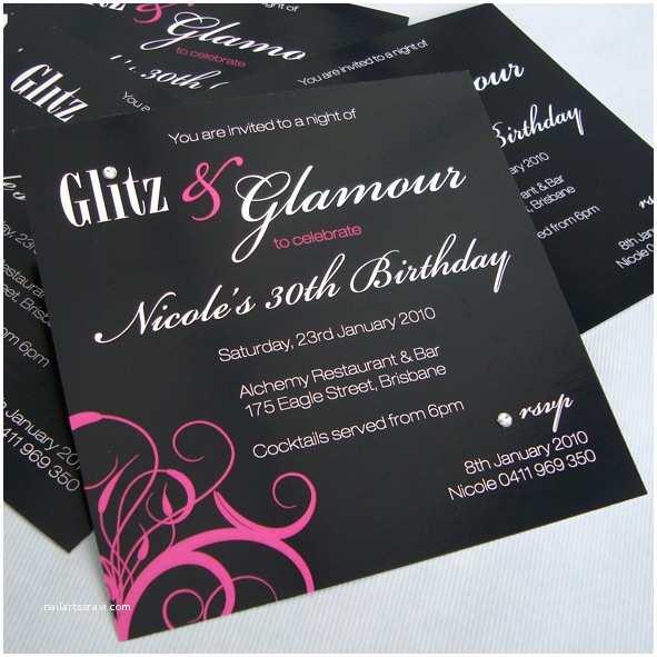 Glamorous Party Invitation Glitz and Glamour Party Little Flamingo