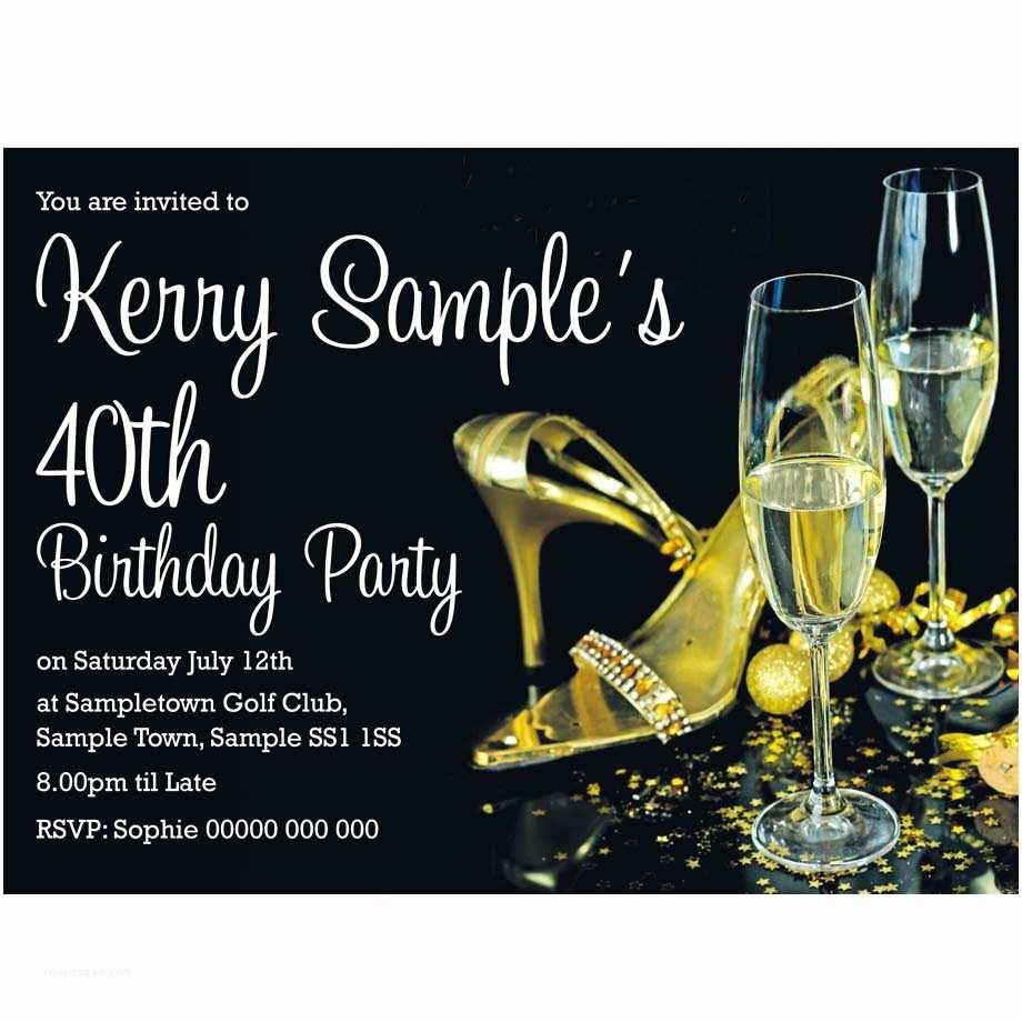 Glamorous Party Invitation Personalised Glamorous Birthday Party Invitations