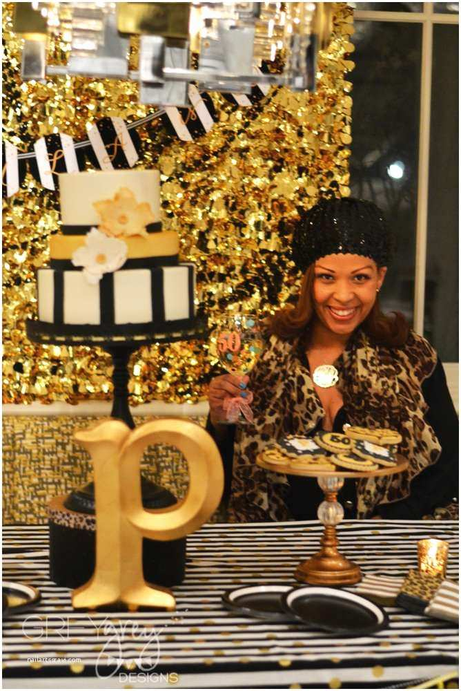 Glamorous Party Invitation Wow Black and Gold Leopard Skin Birthday Party Ideas